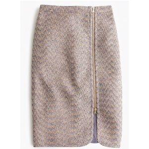 J.crew Zip-front pencil skirt in sparkle tweed